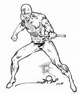 Daredevil Marvel Coloring Ink Comic Miller Comics Frank Walt Simonson Sketch Printable Collaboration Dc Getdrawings Marvel1980s sketch template