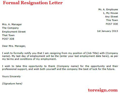 writing   uk examples  resignation