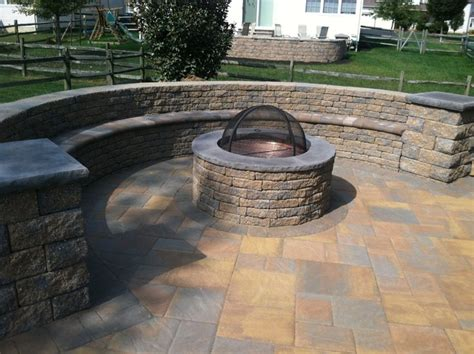 ep henry bristol paver patio with pit rustic
