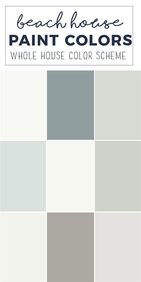 paint colors for a whole home color palette calming neutral paint colors knock knock who s