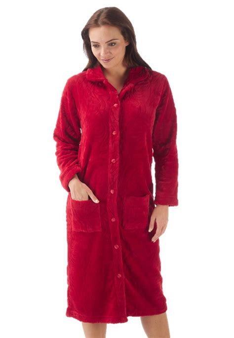 kimono robe de chambre femme womens button dressing gown robe fleece bathrobe
