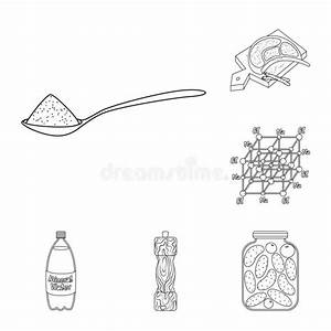 No Sodium Illustration  No Salt Diet Stock Illustration