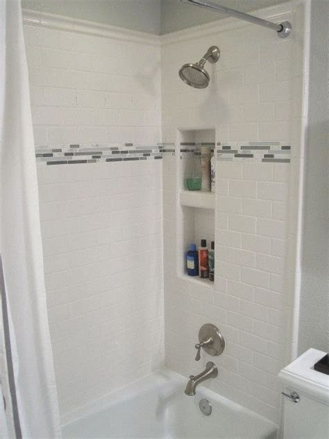 life  guest bathroom white subway tile shower