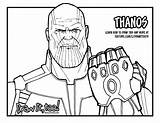 Thanos Coloring Avengers Infinity War Draw Drawing Gauntlet Printable Coloriage Fortnite Marvel Lego Colorear Sketch Drawittoo Too Stones Line Drawings sketch template