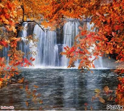 Picmix Autumn Falls Fall Waterfall Butterfly Waterfalls