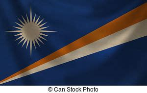 Football with magnified flag of marshall islands isolated ...