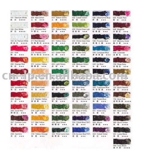 color chart colors colour chart and