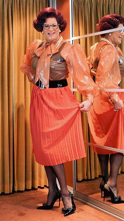 Crossdresser Wanda Nylon Nylons Nalim Animation Skirt