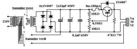 relazione alimentatore stabilizzato alimentatore variabile schema montare motore elettrico