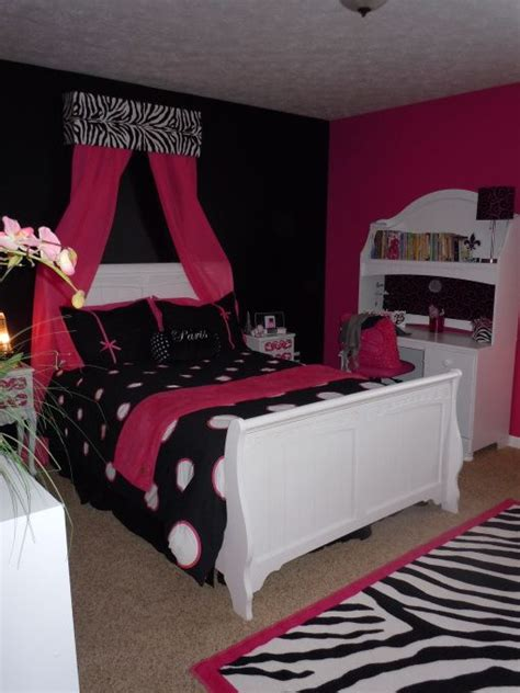 black and pink bedroom accessories belles room hot pink and black tween room girls rooms 18321   ca0ac4d2049965d28e642b513c7b1104
