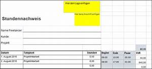 Rechnung Stunden : kostenlos einfacher stundenzettel excel vgsd selbstst ndig vereint ~ Themetempest.com Abrechnung