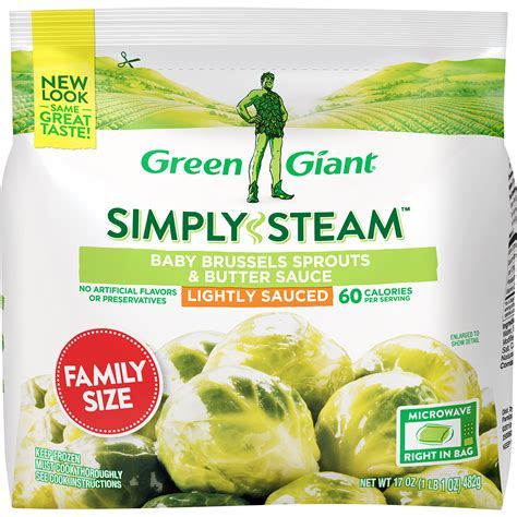 green giant simply steam family size baby brussels