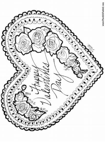 Coloring Valentine Valentines Printable Hearts Adult Havycrafts