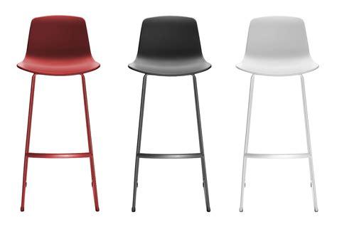 chaises de bureau chaise de bar lottus piètement luge h 76 cm blanc enea