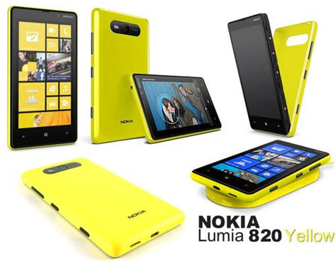 nokia nokia lumia 820 4g lte 8gb carl zeiss windows phone 8 yellow smartphone was sold for r1