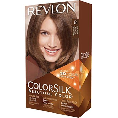 Benefits Of Hair Color by Revlon Colorsilk Hair Color 51 Light Brown 1 Ea Pack Of