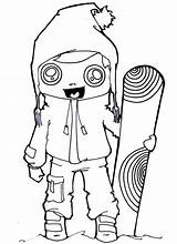 Coloring Pages Snowboarding Sports Winter Clothes Snowboard Getcolorings Printable Pdf sketch template