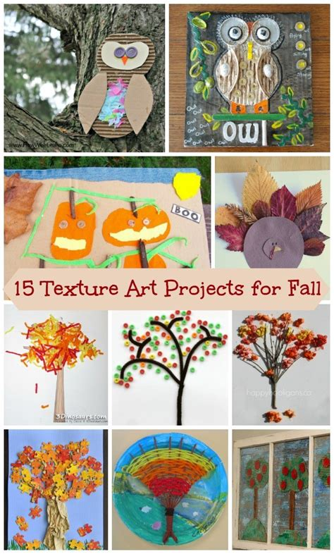 fall themed texture art projects  kids edventures