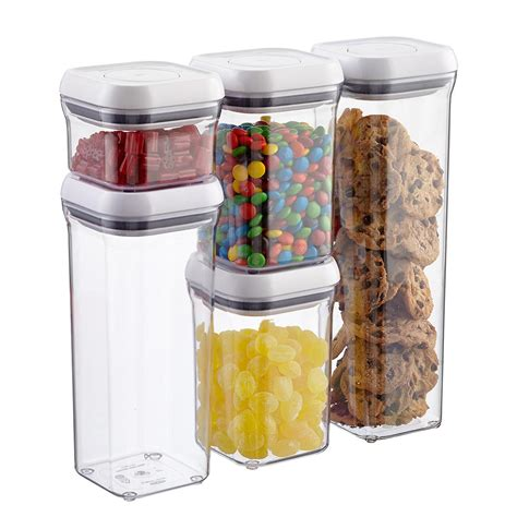 oxo cuisine oxo grips 5 pop canister set the container store