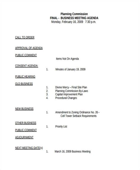 10+ Business Meeting Agenda Examples, Samples