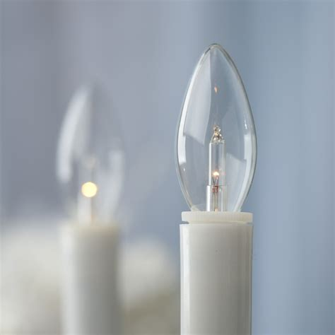 battery operated iridescent base welcome candle ls