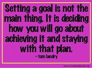 Setting Goals Q... Tom Landry Inspirational Quotes