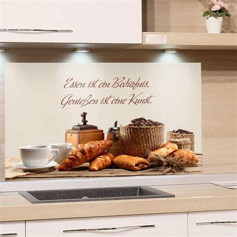 Spritzschutz Für Die Küche by Spritzschutz Glasbild F 252 R Die K 252 Che Essen Ist Ein