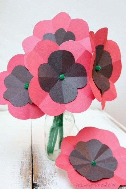 easy paper poppy flower tutorial remembrance day craft