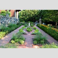 Formal Herb Gardens At Cranbrook House & Gardens In