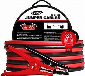 Topdc Battery Jumper Cables 4 Gauge 25 Feet Heavy Duty