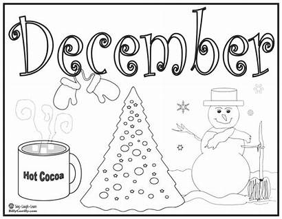 Coloring Pages Winter December Printable Holiday Theme