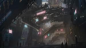 Cyberpunk city speedpaint by Tryingtofly on DeviantArt
