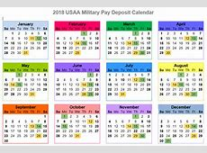 2018 USAA Military Pay Deposit Dates With Printables