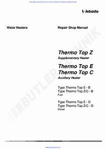 Webasto Heater Thermo Top C Workshop Manual Service Manual