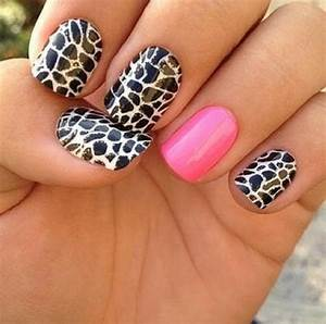Images Of White Nails With Cheetah Design Golfclub