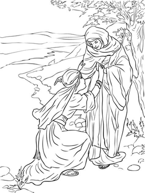 ruth  naomi coloring page supercoloringcom