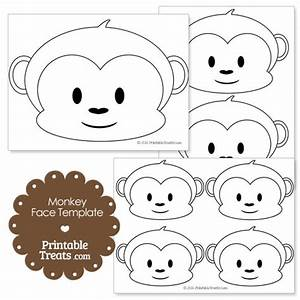 baby monkey face template monkey and face With monkey face template for cake