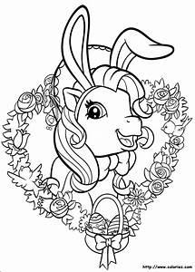 Coloriage De Paque : coloriage coloriage de p ques chez les petits poneys ~ Melissatoandfro.com Idées de Décoration