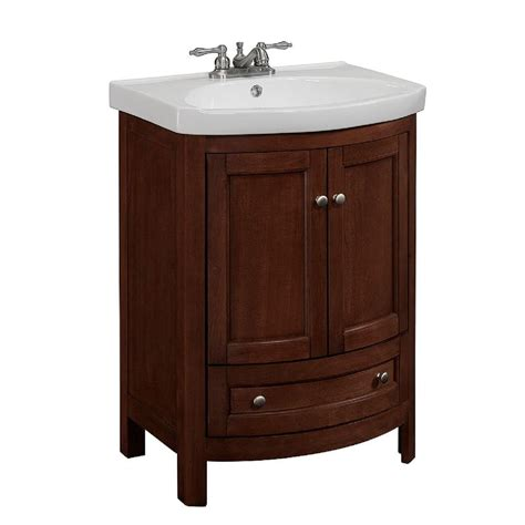 24 Inch Bathroom Vanity by Runfine 24 In W X 19 In D X 34 In H Vanity In Walnut