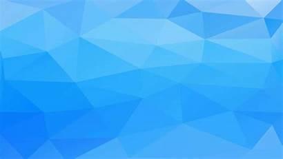 3d Polygon Pattern Biru Wallpapers Desktop Pc