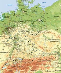 Deutschland Physische Karte : landkarte landkarten intermap digitale karten ~ Watch28wear.com Haus und Dekorationen