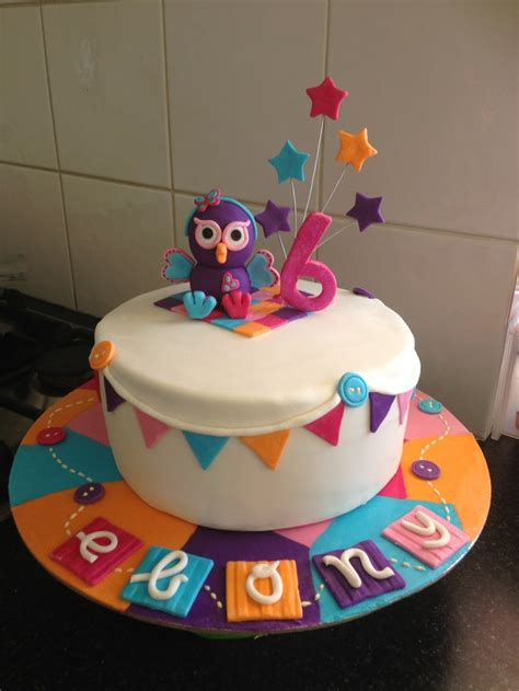 birthday party ideas rookie giggle and hoot cake for a 6 year girl my cakes