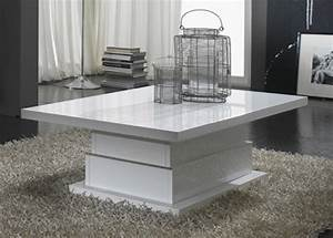 Table Basse Lux Laque Blanc