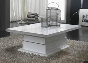 Table Salon Blanc Laqué : table basse lux laque blanc ~ Teatrodelosmanantiales.com Idées de Décoration