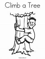 Coloring Climb Tree Boy Built California Usa sketch template