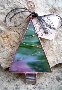 pink and green stained glass tree ornament all things glass