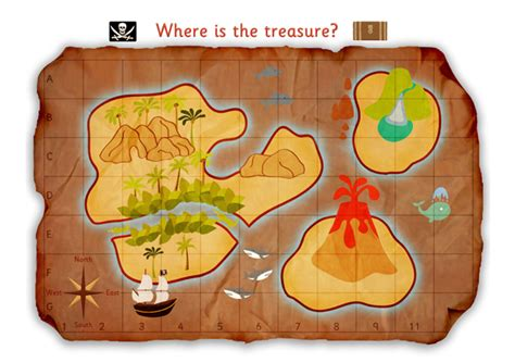 pirate treasure map poster  early years primary