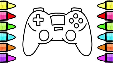 draw gamepad console controller coloring book
