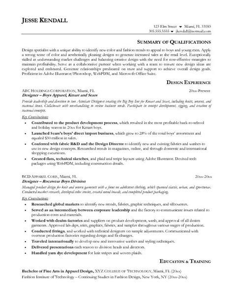 fashion designer resume template