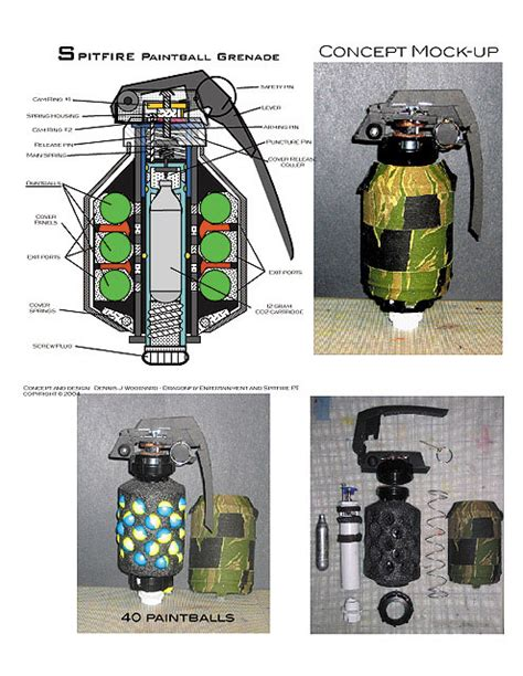 Spitfire Paintball Grenade - Mock up